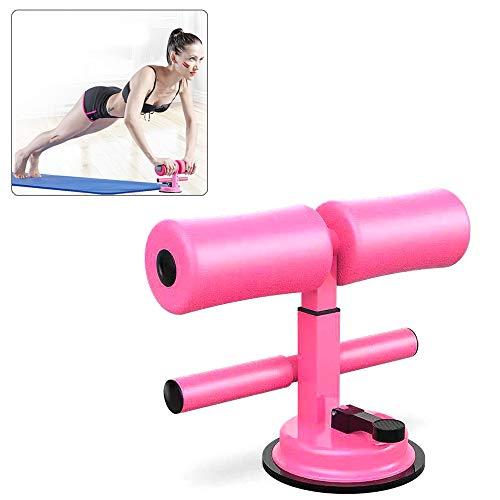 EZSMART Tragbare sit up trainingsgerät, Selbstsaug höhenverstellbare Bauchmuskelübungen, Bauchtrainer sit up assistent mit bequemem Schaumstoff für Sit-up, Push-up-Heim-Fitnessstudio (Rosa)