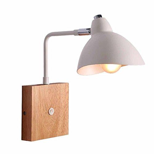 WEXLX Appliques en bois de style nordique Wall Lamp pour Balcon escalier allée12 diamètre cm28cm