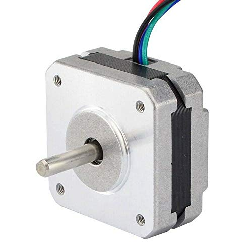 SHIJING 2 Stks 17Hs08-1004S 4-Lood Nema 17 Stepper Motor 20mm 1A 13Ncm(18.4Oz.In) 42 Motor Nema17 Stepper voor Diy 3D Printer Cnc