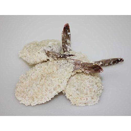 Frozen Seafood Clean Tail Breaded Butterfly Shrimp, 3 Pound -- 4 per case.