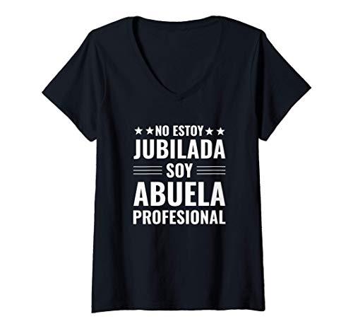 Mujer Jubilada Regalo Abuela Divertido Camiseta Cuello V