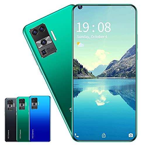 RUBAPOSM Desbloquear Smartphone, Teléfono Móvil de Red Dual SIM 3G, Desbloqueo Facial Inteligente, Cámara HD 2MP + 5MP, Batería 2300 Mah, Versión Global,Verde