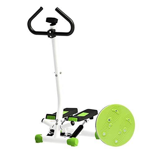 DGHJK Mini Paso a Paso para Bicicleta giratoria para Interiores con Mango, Equipo aeróbico para Pasos, Monitor LCD, versión básica para Ejercicio en el hogar