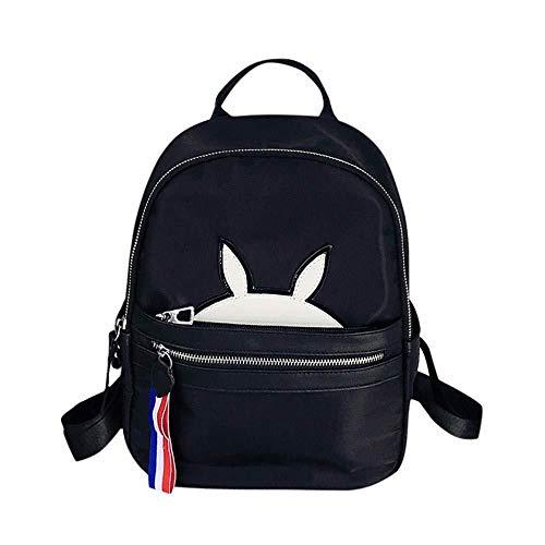 Pu leder einfach lenden rucksack frauen kawaii cartoon bunny rucksack mode druck schultasche mädchen reise daypack