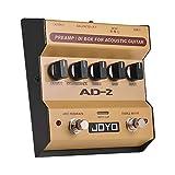 JOYO AD-2 Preamplificatore Portatile DI Box Pedale Effetto Chitarra Acustica Balance a 2 bande con 5 manopole di regolazione tono base per commenti ad alta sensibilità Effetto sonoro