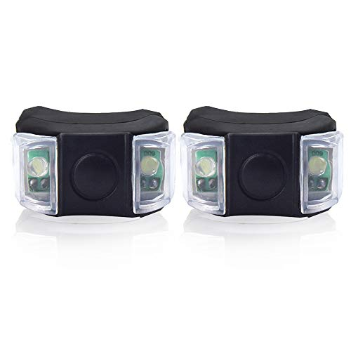 Luxvista Bike Wheel Lights, 2-Pack Bright Daylight Bicycle Spoke LED Lights for Front and Rear Tires with Batteries Included, Silicone Bike Light Easy to Install