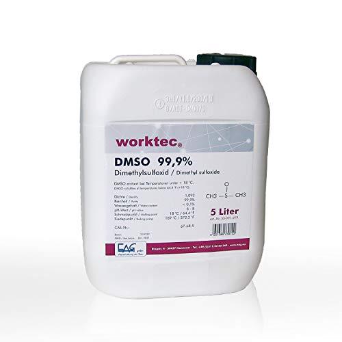 DMSO 99,9%, 5 litros, dimetilsulfóxido 5000 ml en bidón de HDPE