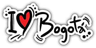 novland I Love Bogota Slogan Art Decor Car Bumper Sticker 6'' x 3''