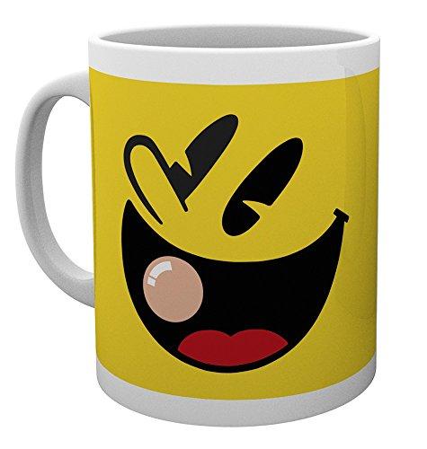 GB eye LTD, Pacman, Face, Tasse, Holz, mehrfarbig, 15 x 10 x 9 cm