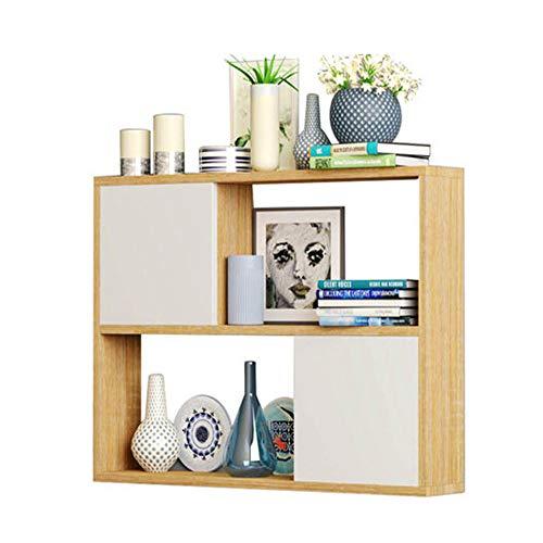 YSYDE wandkast creatief rooster, boekenkasten opslag massief hout kleine opslag, kan de deur, kast met deur muur rek muur hangen
