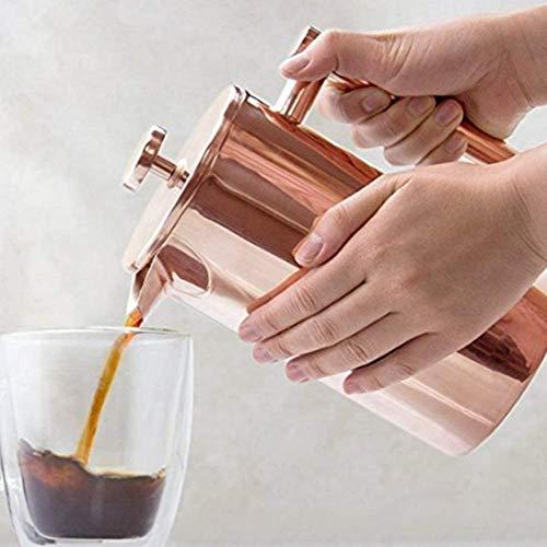 Drop-it French Press [1 Liter / 1000 ml] Kaffeebereiter, Kaffeemaschine aus Edelstahl, doppelwandige Kaffeekanne mit Edelstahlfilter