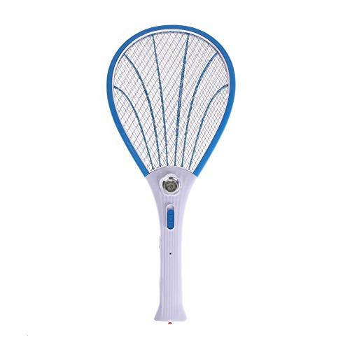 Wghz Elektrische Fliegenklatsche 3 Schichten Netto-Trockenzellen-Handschläger Wiederaufladbare LED Elektrische Klatsche Elektrische Insektenschädlingswespe Fliegenmückenklatsche Schädlingsbekämpf