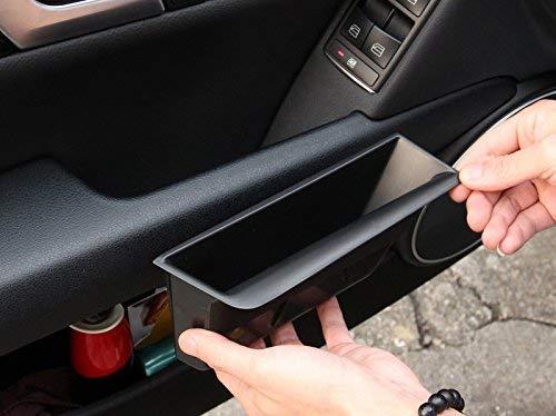 Kunststoff-Innenraum-Frontseitentür Aufbewahrungsbox Halterabdeckung schwarz für C-Klasse W204 2008-2013