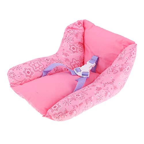 Mini Seggiolino Auto per Bambole Americane Neonato 18 Pollici Colore Rosa