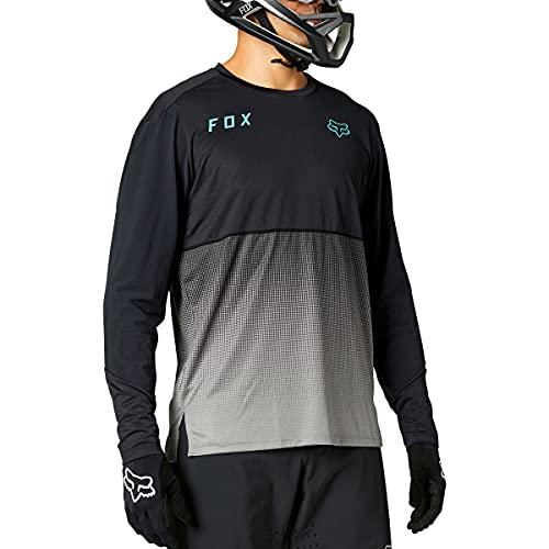 Fox Racing Herren Flexair Long Sleeve Jersey Hemd, schwarz, Mittel