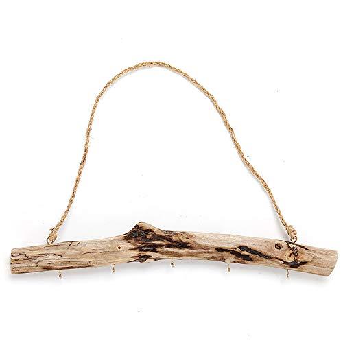 Schlüsselbrett Holz, Vintage Treibholz Aufbewahrung Haken