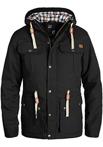 !Solid Chara Herren Winterjacke Herrenjacke Jacke gefüttert mit Kapuze, Größe:L, Farbe:Black (9000)
