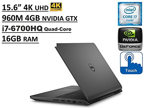 Dell Inspiron i7559 15.6in UHD (3840x2160) 4K TouchScreen Gaming Laptop: Intel Quad-Core i7-6700HQ | 16GB RAM | NVIDIA GTX 960M 4GB | 1TB HDD | Windows 10 (Renewed)