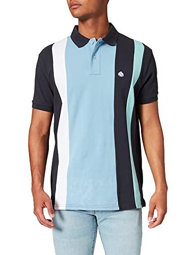 Springfield Polo a Rayas Camiseta, Azul Oscuro, S para Hombre