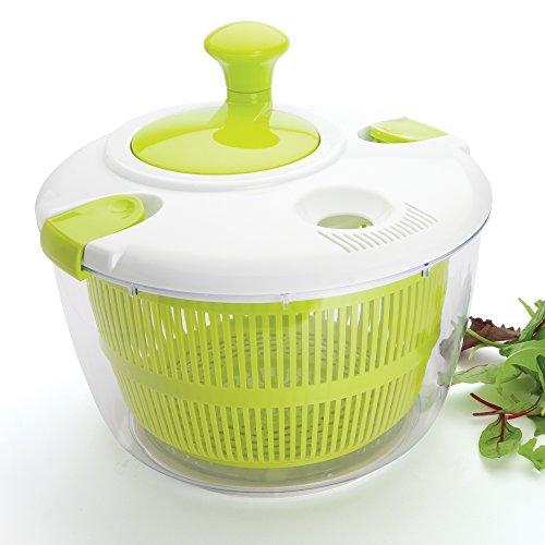 Salatschleuder 4 Liter Plastik Grün & Weiß - Auch Als Salatschüssel Und Seiher Verwendbar BPA-frei Von Taylors Eye Witness
