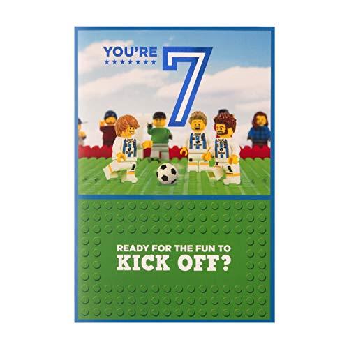 Hallmark verjaardagskaart voor de 7e verjaardag, motief Lego Football