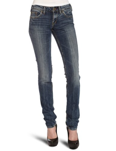 Zilveren Jeans Dames Aiko Slim Been Stretch Jean