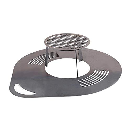 RM Design Grillplatte Bratplatte Feuerplatte Grillzubehör Feuerstelle 60 cm Durchmesser
