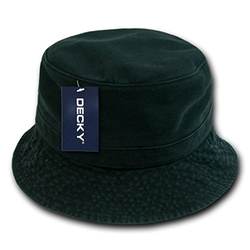 DECKY Polo Bucket Hat, Black, Large/X-Large