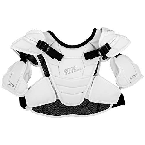 Lacrosse Unlimited STX Shadow Shoulder Pads-White-Large