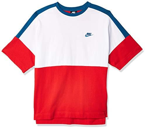Nike Sportswear T-Shirt, Uomo, University Red/White/Industrial Blue, S