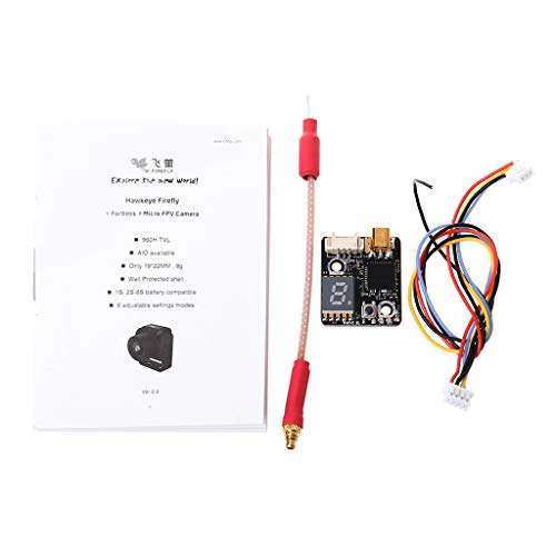 GMSP Hawkeye Firefly Fortress 2.1mm 4:3 16:9 Micro FPV Camera 1-6S 5.8G 0-200mw Transmitter VTX AIO for RC Models