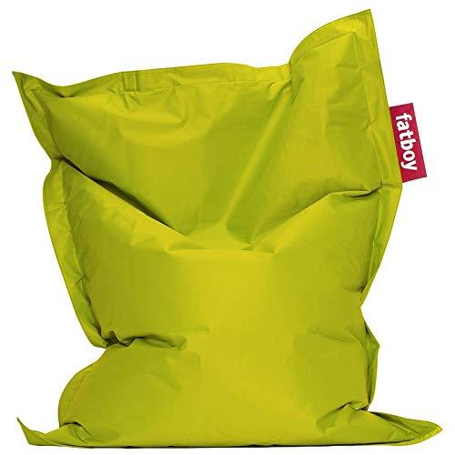 Fatboy® Junior limegrün | Original Nylon-Sitzsack | Klassisches Indoor Sitzkissen speziell für Kinder | 130 x 100 cm