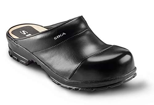 Sika 54 Comfort Robuster Clog - Breite Passform und Fußbett aus Holz - Besonders Gute Strapazierfähigkeit - Schwarz - Gr. 43