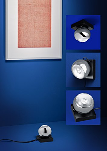 Deutsche LED-Wand-/Tisch-/Bodenleuchte Mercury Metall Chrom Glas 5,1W