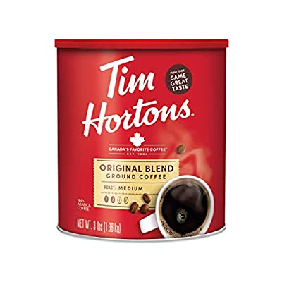 Tim Hortons Original Blend, Medium Roast Ground Coffee, Made with 100% Arabica Beans, 48 Ounce Canister