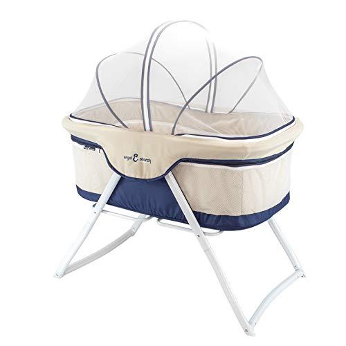 3-in-1 Baby Babybett Beistellbett Reisebett inkl. Moskitohaube, Matratze und Tasche - Blau