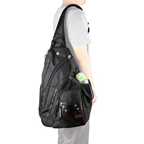 Sling Laptop Backpack with Water Bottle Pocket