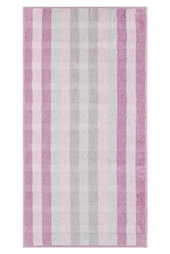 Cawö Home Noblesse Interior 1081 Lot de 22 serviettes de bain à rayures Rose 80 x 150 cm