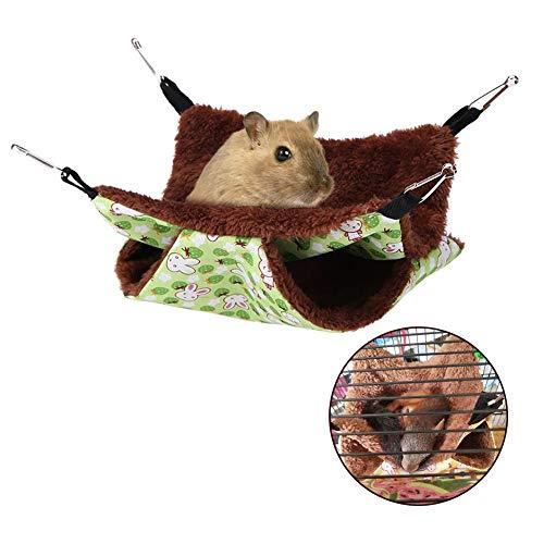 HEEPDD - Hamaca de Animales pequeños, Suave, cálida, Doble Capa, para Mascotas, para Perro, cobaya, Cerdo, Chinchilla Gato, hurón, ratón, Conejo, Ardilla