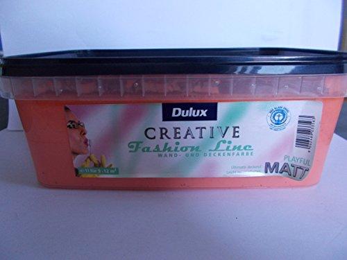 Dulux Creative Fashion Line Wandfarbe 1L, PLAYFUL, Lachsfarben, Matt