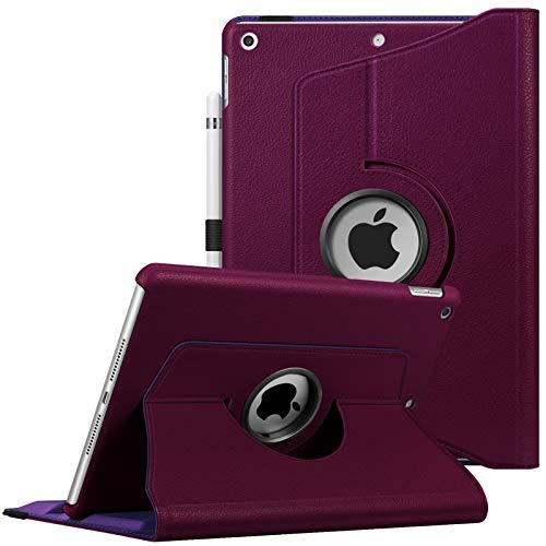 "Fintie Funda Giratoria Compatible con iPad 10,2"" (9.ª/8.ª/7.ª Generación) 2021/2020/2019 - Rotación de 360 Grados Carcasa Auto-Reposo/Activación, Morado"