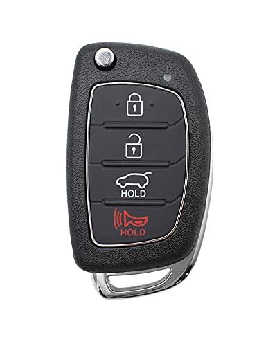1 UNID CASE REMOTO CÓDIGO TECHO CASO DURANTE Y PRÁCTICA Fácil de instalar para Hyundai Santa Fe I40 IX35 IX45 Sonata Tucson Creta I20 Solaris Accesorios de coche (Color Name : 4 Buttons)