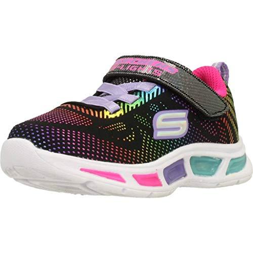 Skechers Mädchen Litebeams-Gleam N'dream Sneaker, Schwarz (Black/Multi Bkmt), 28 EU