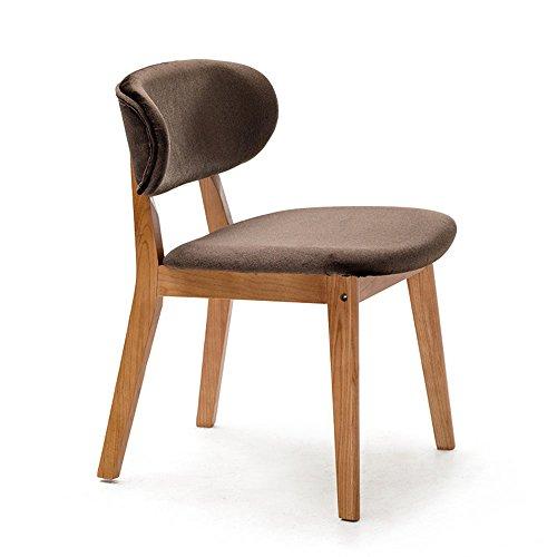 ZHILONG Chaise Bois Massif + Tissu Chaise De Dossier Bureau Et Chaise Tabouret De Restaurant (Couleur : Marron, taille : A)
