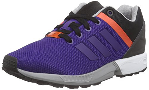 adidas ZX Flux Split, Scarpe da Running Unisex-Adulto, Viola Collegiate Purple Collegiate Purple Bold Arancione, 44 EU