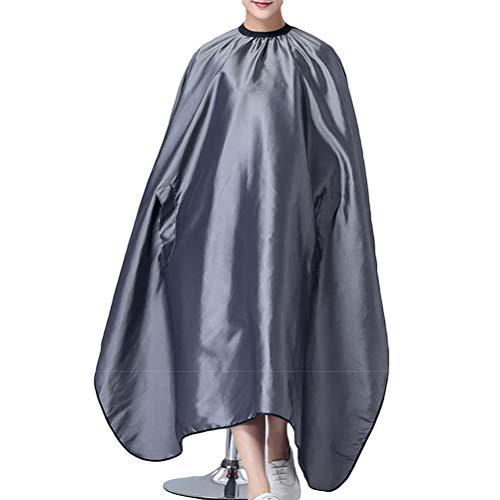 Lurrose 1 ST Haar Snijden Jurk Cape Kappers Schort Salon Barber Jurk Stretch Out Schort (Grijs)