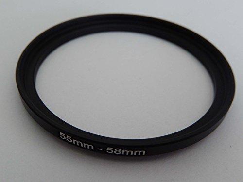 vhbw Adaptador de Filtro Step up 55mm-58mm Negro para cámaras Tamron 90...