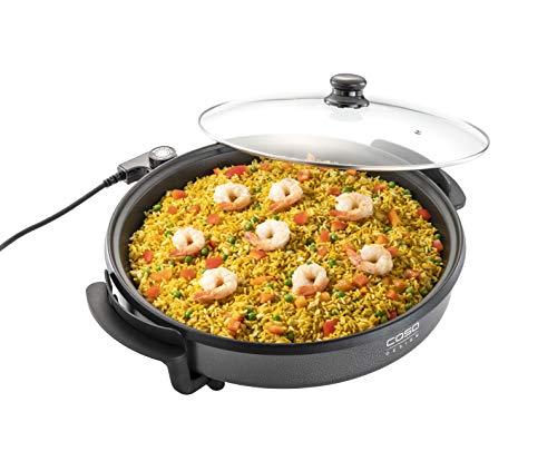 CASO Profi Partypfanne – elektrische Multipfanne für Pizza, Burger, Gemüse u.v.m., bis ca. 240°C, Warmhaltefunktion