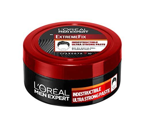 L\'oréal Paris Paris Paris Men Expert Extreme Fix Indestructible Paste - Für Auffallend Kreative Style, Extrem Starker Halt Und Formbarkeit Ohne Zu Verkleben, 75 Ml