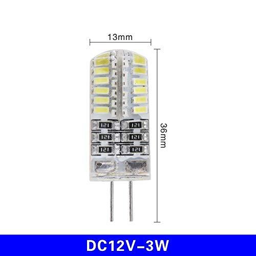 Smd Led-lamp 10 stuks/Los G4 Led-lamp Ac DC 12 V 220 V 1 W 2 W 3 W 4 W 5 W halogeenlamplicht vervangen 360 graden koplamp kroonluchter verlichting 3W_Dc12V_Warm_wit